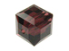 6 Burgundy - 8mm Swarovski Faceted Cube Beads