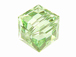 6 Chrysolite - 8mm Swarovski Faceted Cube Beads