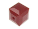 Dark Red Coral Swarovski 5601 6mm Cube Beads Factory Pack