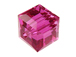 Fuchsia Swarovski 5601 6mm Cube Beads Factory Pack
