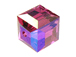 12 Fuchsia AB - 6mm Swarovski Faceted Cube Beads