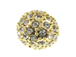 8mm Gold plated Crystal Pave Beads in Bulk