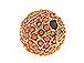 12mm Beadelle Gold-plated Coral Round Resort Pavé Bead