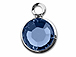 Swarovski Crystal Silver Plated Birthstone Channel Charms - Sapphire