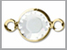 Crystal - Swarovski Crystal Gold Plated Birthstone Channel Links, 15 x 9mm