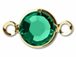 Emerald - Swarovski Crystal Gold Plated Birthstone Channel Links, 15 x 9mm