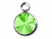 **Stone is Pointy on both sides** Swarovski Crystal Silver Plated Birthstone Channel Charms - Peridot