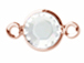 Swarovski Crystal Rose Gold Plated Birthstone Channel Links or Connectors - Crystal