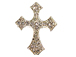 31mm Rhinestone Cross - Silver Tone