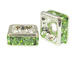 Peridot: 4mm Sterling Silver Plated Finish Squaredelle - Swarovski