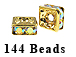 4.5mm Squaredelle Gold plated - Crystal AB