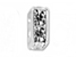 6mm Squaredelle Silver plated - Crystal