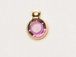 Amethyst - Swarovski Crystal Gold Plated Birthstone Channel Charms, 6.6 x 4.6mm