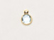 Aquamarine - Swarovski Crystal Gold Plated Birthstone Channel Charms, 6.6 x 4.6mm