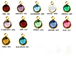 12pc Set of Swarovski Gold Plated Birthstone Channel Charms