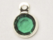 Emerald - Swarovski Crystal Silver Plated Birthstone Channel Charms, 12 x 9mm