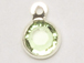 Peridot - Swarovski Crystal Silver Plated Birthstone Channel Charms, 12 x 9mm