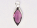 Swarovski Crystal Silver Plated Birthstone Channel Marquis Charms - Amethyst