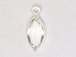 Swarovski Crystal Silver Plated Birthstone Channel Marquis Charms - Crystal