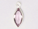 Swarovski Crystal Silver Plated Birthstone Channel Marquis Charms - Light Amethyst