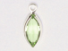 Swarovski Crystal Silver Plated Birthstone Channel Marquis Charms - Peridot