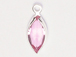 Swarovski Crystal Silver Plated Birthstone Channel Marquis Charms - Rose