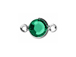 Emerald - Swarovski Crystal Silver Plated Birthstone Channel Connectors, 8.6 x 4.6mm