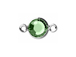 Peridot - Swarovski Crystal Silver Plated Birthstone Channel Connectors, 8.6 x 4.6mm