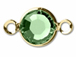 "Swarovski Crystal <font color=""FFFF00"">Gold Plated</font> Birthstone Channel Links - Peridot"