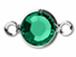 Swarovski Crystal Silver Plated Birthstone Channel Links - Emerald 250 pcs