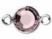 Swarovski Crystal Silver Plated Birthstone Channel Links - Light Amethyst 250 pcs