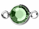 Swarovski Crystal Silver Plated Birthstone Channel Links - Peridot 250 pcs