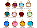 12pc Set of Swarovski Rose Gold Plated Birthstone Channel Charms