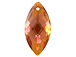 Swarovski 6110 Navette Pendant - 40x18mm - Crystal Copper