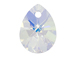 Swarovski 6128 10mm Mini Pear Pendant Crystal AB