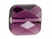 Amethyst - 6mm Swarovski Mini Square Bead