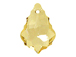 Crystal Golden Shadow - 22x15mm Swarovski Baroque Pendant