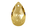 Crystal Golden Shadow - 16mm Swarovski  Pear Shape Drop Factory Pack