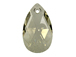Crystal Silver Shade - 28mm Swarovski  Pear Shape Drop