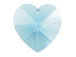 Aquamarine - 14.4x14mm Swarovski  Heart Shape Pendant