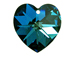 Crystal Bermuda Blue - 14.4x14mm Swarovski  Heart Shape Pendant