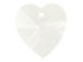 Crystal - 14.4x14mm Swarovski  Heart Shape Pendant