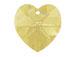 Crystal Golden Shadow - 14.4x14mm Swarovski  Heart Shape Pendant