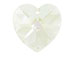 Crystal Moon Light - 14.4x14mm Swarovski  Heart Shape Pendant