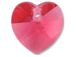 Indian Pink - 14.4x14mm Swarovski  Heart Shape Pendant