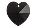 Jet - 14.4x14mm Swarovski  Heart Shape Pendant