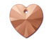 Crystal Rose Gold 2X - 14.4x14mm Swarovski  Heart Shape Pendant