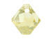 18 Swarovski 6301 8mm Faceted Bicone Pendant Crystal Golden Shadow