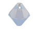 18 Swarovski 6301 8mm Faceted Bicone Pendant Air Blue Opal