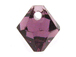 18 Swarovski 6301 8mm Faceted Bicone Pendant Amethyst